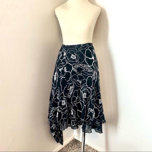 Lane Bryant Lane Collection Black Asymmetric Zipper Detail Skirt sizes 16 18 20